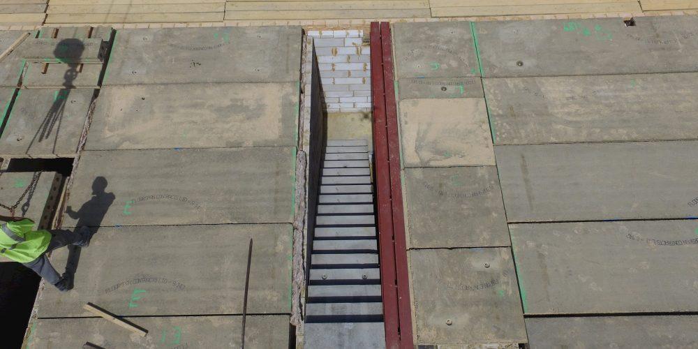 Install precast concrete stairs