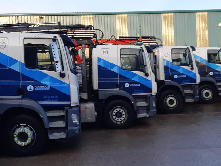 Rigid Lorries Ready For Beam & Block Delivery