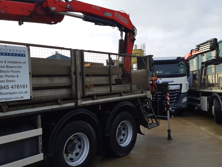 Lorry modified for precast delivery
