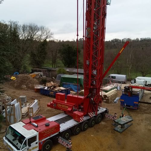 Specialised Crane Employed For Safe & Secure Plank Installation