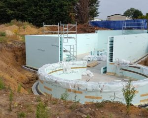 New home half way through built with Nudura from ICF