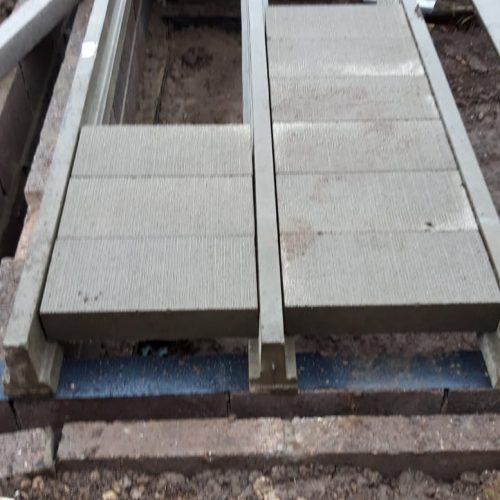 blocks being installed into self build site