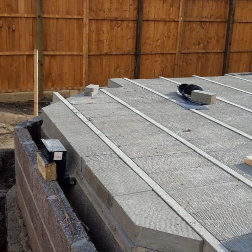 block and beam installed before grouting