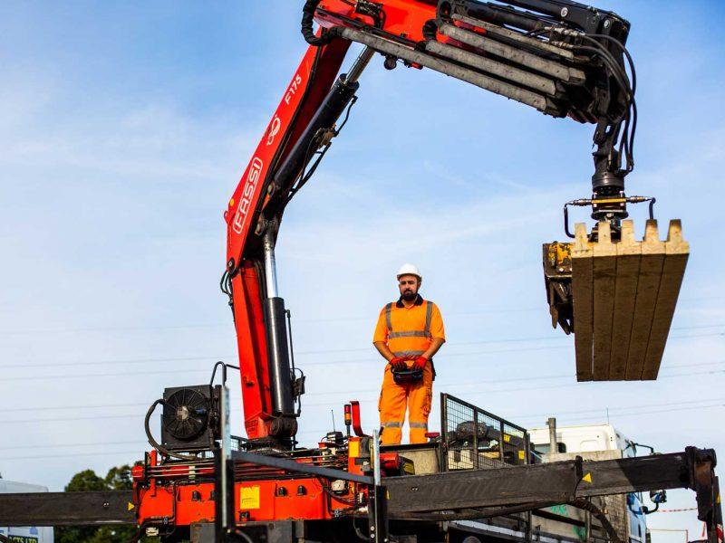 beam and block installation