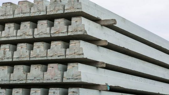 Stack of beams at Floorspan Contracts yard