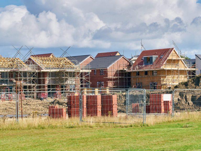large development site building houses