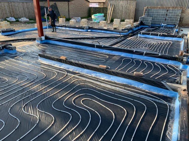 beam and block floor installation