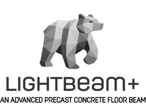 Lightbeam+ logo with bear and text